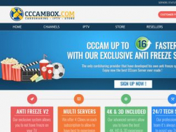 Screenshot cccambox.com