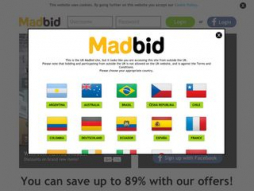 Screenshot madbid.com