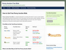 Site pennyauctionfreebids.co