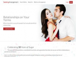 Screenshot seekingarrangement.com