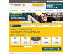Screenshot telethon.fr
