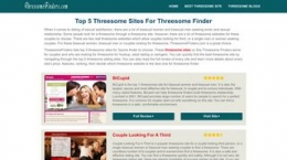 Screenshot threesomefinders.com